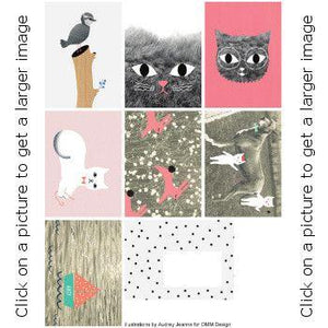 For YOU with LOVE- Ommdesign postcards by Audrey Jeanne