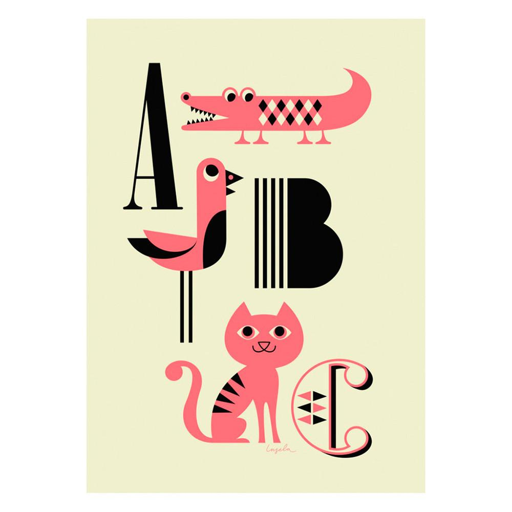 Poster Pink ABC