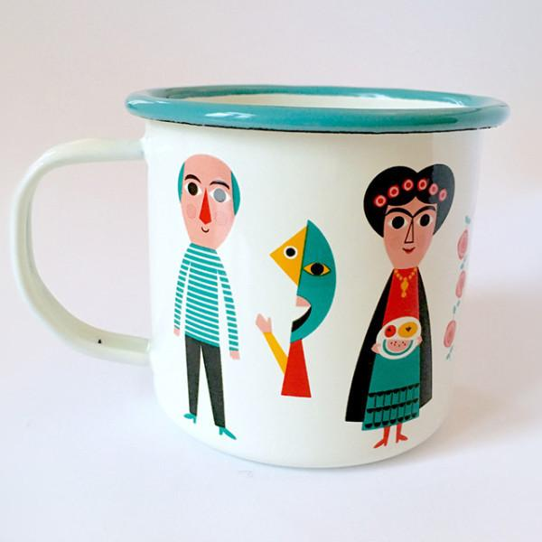 "Taza enamel ""artists"""