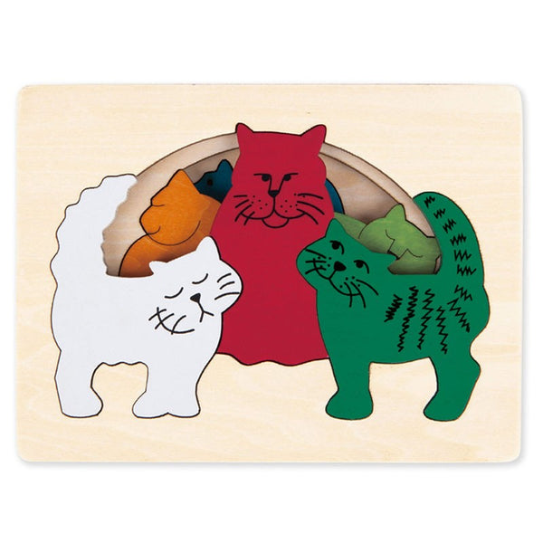 Puzzle encajable gatos
