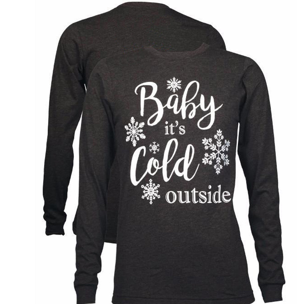 Women Christmas Snowflake Letter Printed Casual Blouse  Fashion Tops - FashCity