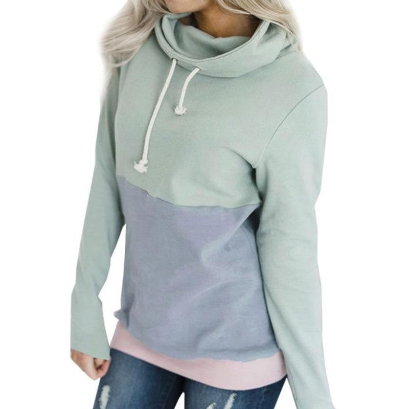 Casual Long Sleeve Hat Color Hooded Sweatshirt Pullover - FashCity