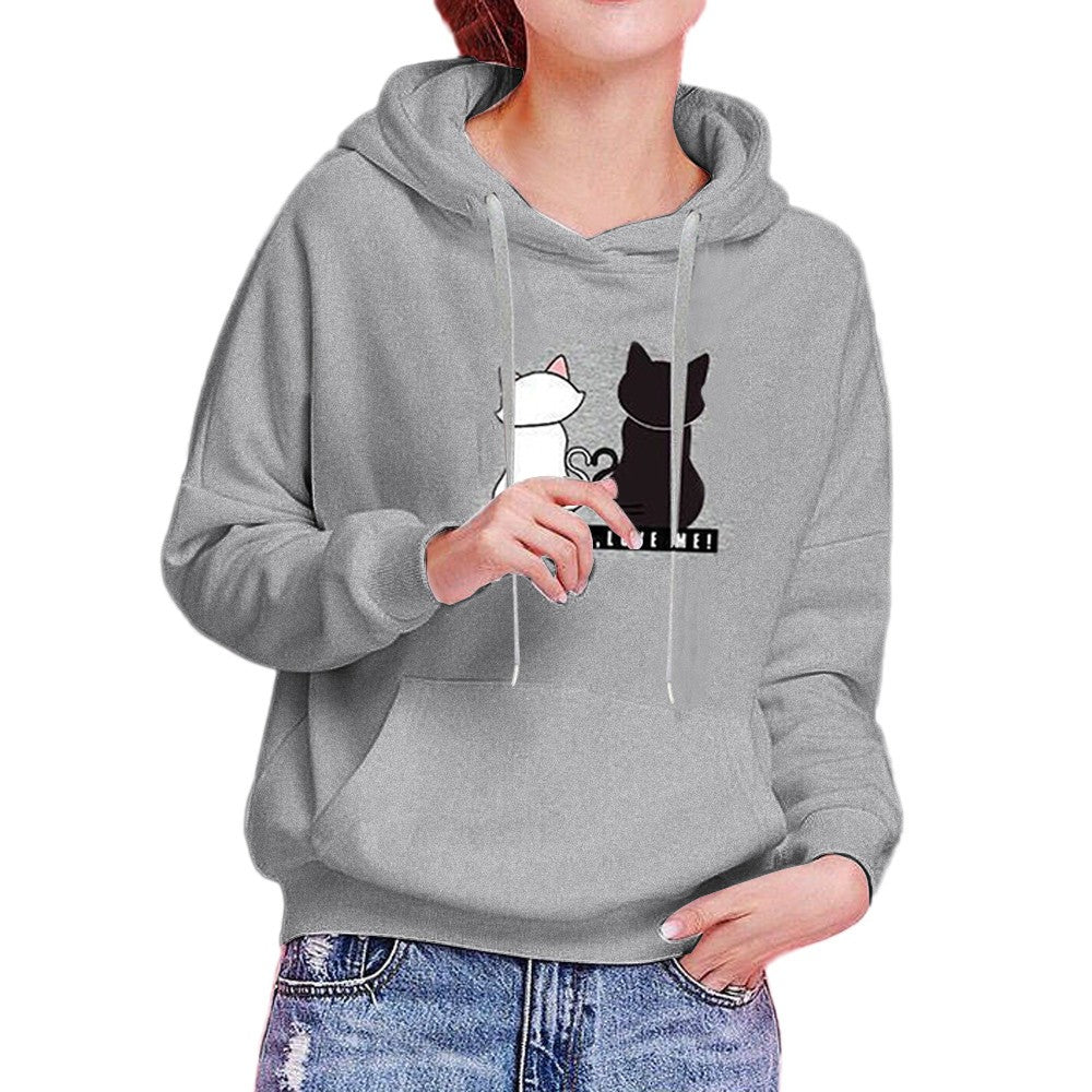 Womens Long Sleeve Hoodie Sweatshirt Casual Hooded Fashion Winter Autumn Tops - FashCity