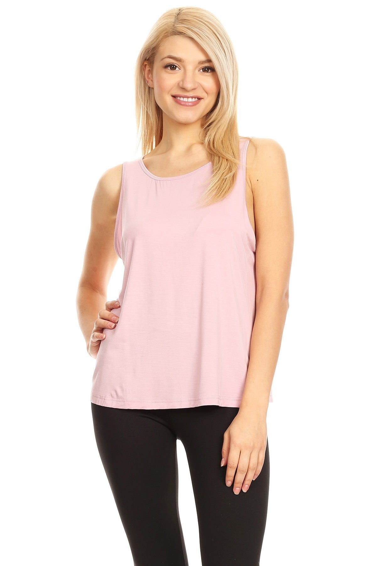 Womens Sleveeless Soft Tank Top With A Butterfly Back Cut Out - FashCity
