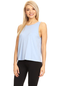Womens Sleveeless Soft Tank Top With A Butterfly Back Cut Out