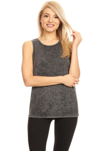 Women's Sleveeless Tank Top With A V Cut Chriss Cross Back - FashCity