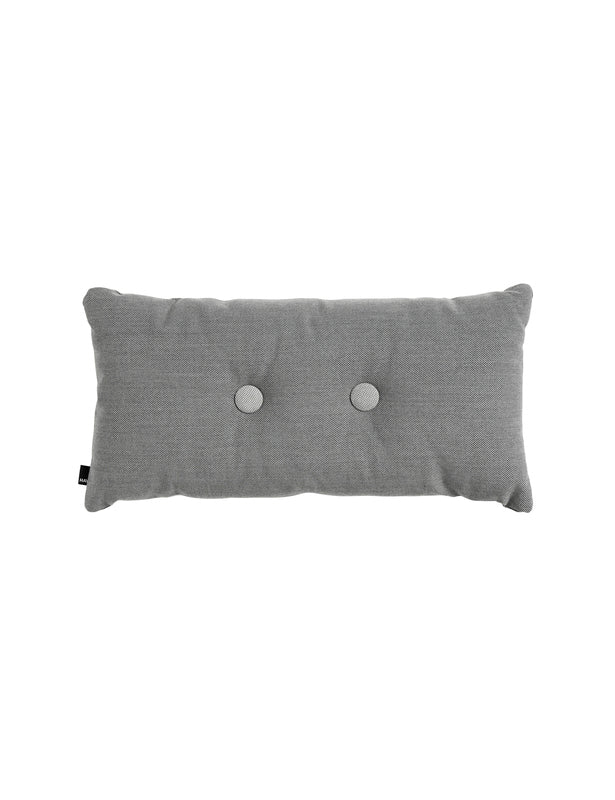 DOUBLE DOT PILLOW - DARK GREY