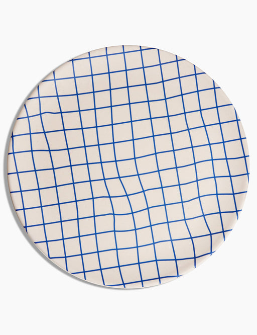 Wavy Grid Bamboo Dinner Plates