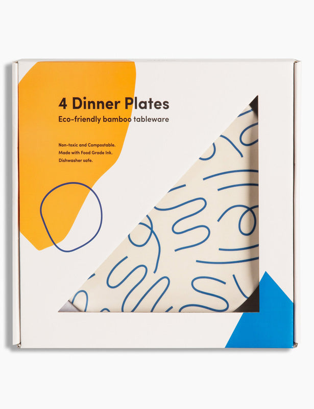 Squiggles Bamboo Dinner Plates