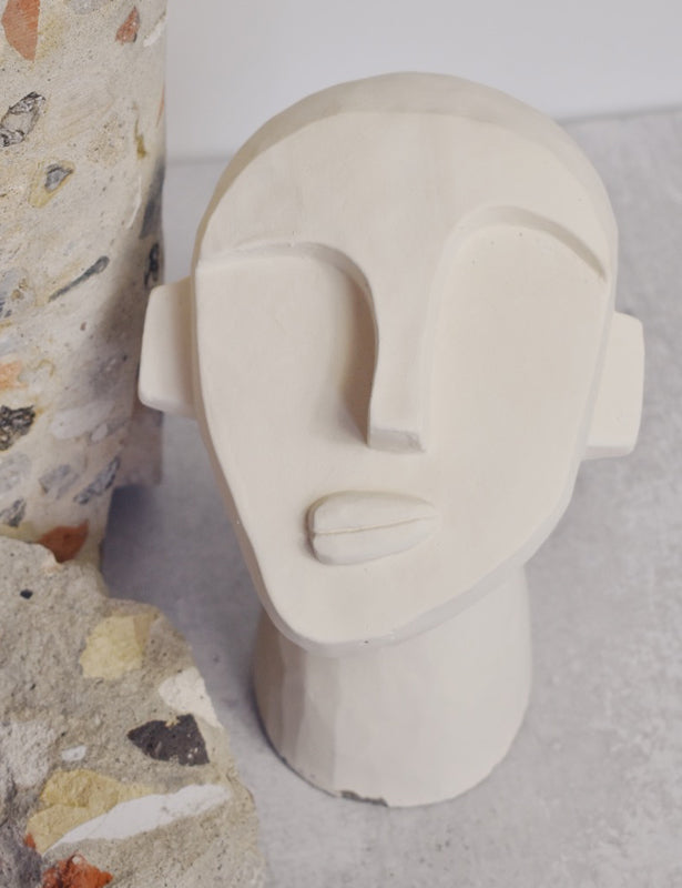 CEMENT FACE SCULPTURE