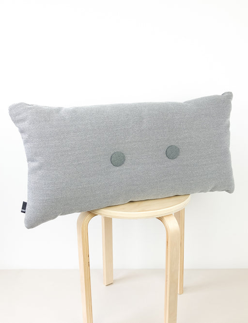 DOUBLE DOT PILLOW - LIGHT GREY