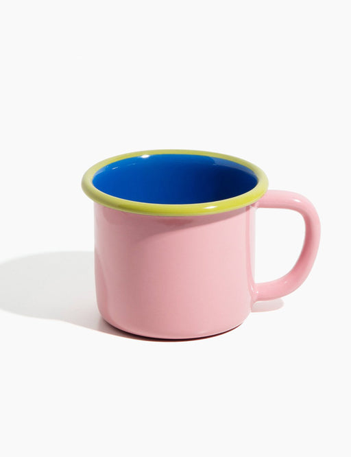 Color Block Enamelware Mug