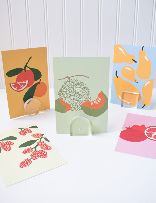 Modern Fruit Postcard Set