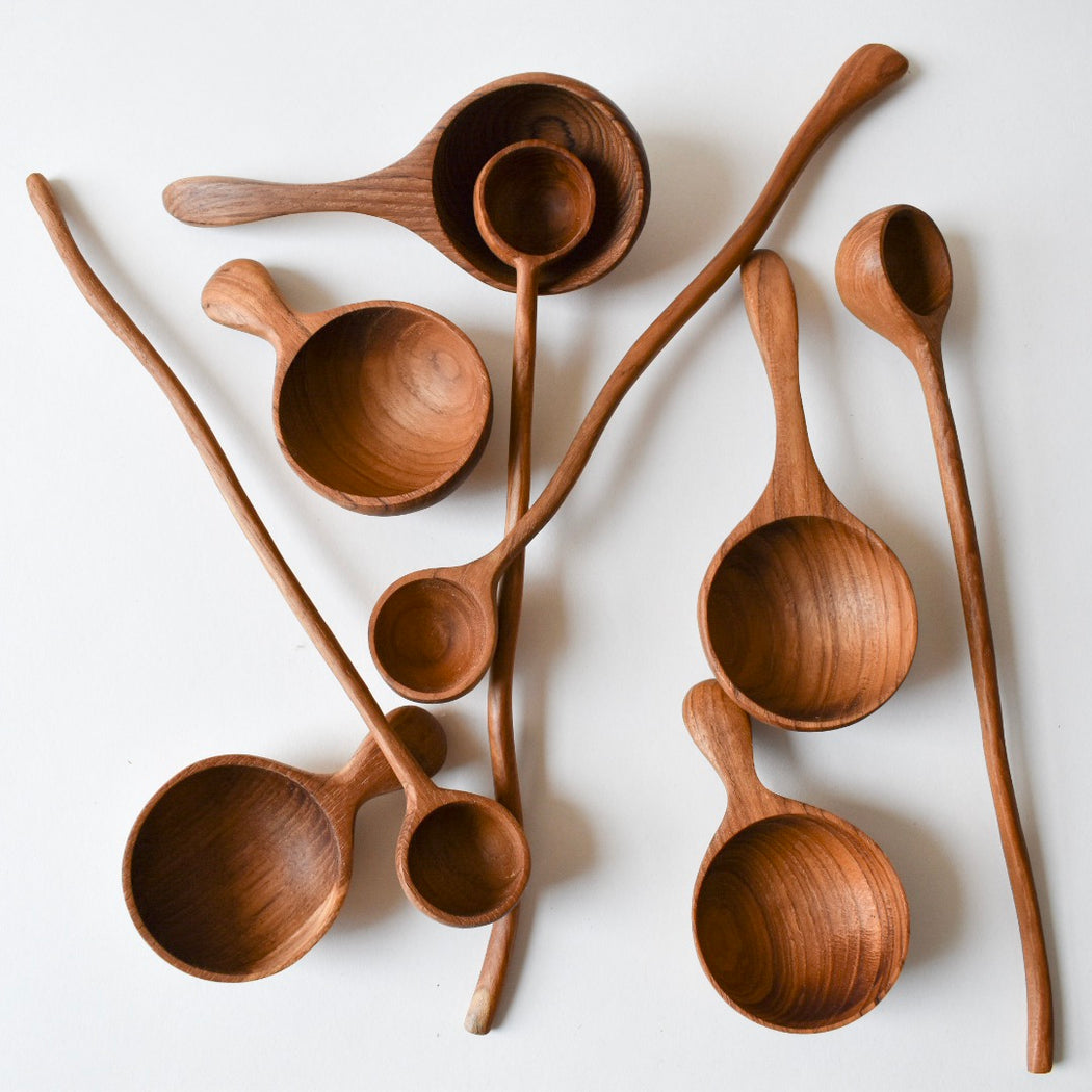 TEAK WOODEN SCOOP