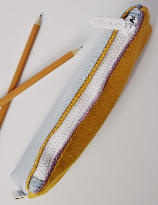 PENCIL CASE - BLUE MARIGOLD