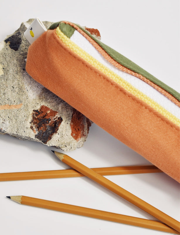 PENCIL CASE - GREEN ORANGE