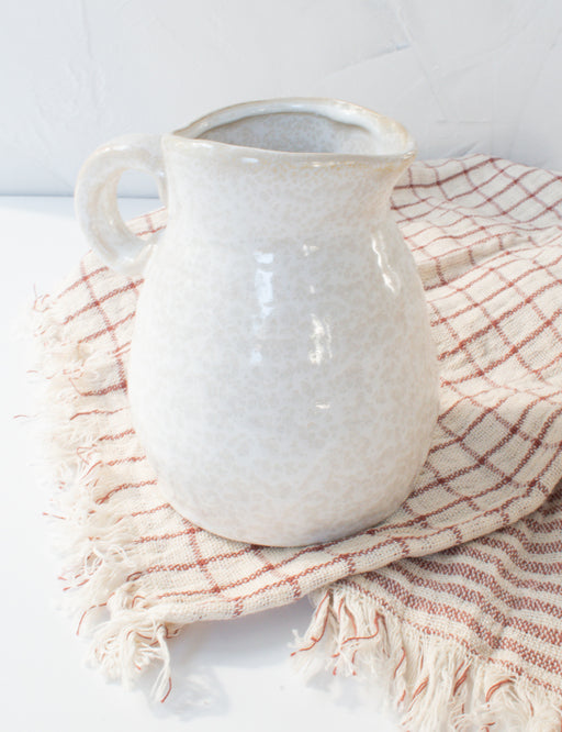 SMALL STONEWARE PITCHER