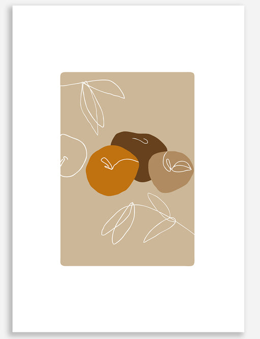 THREE APPLES PRINT