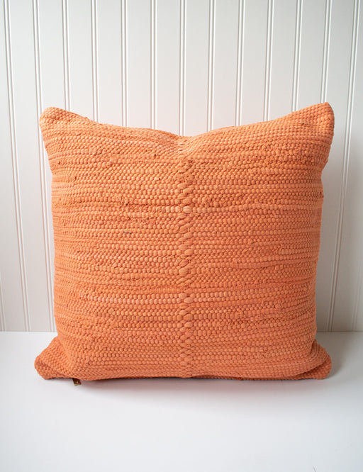Woven Cotton Pillow - Clay