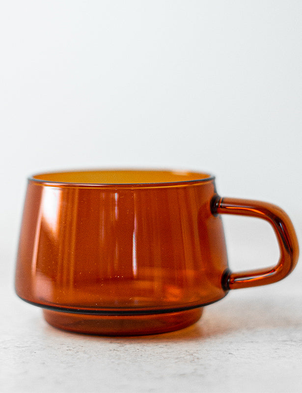 AMBER GLASS CUP