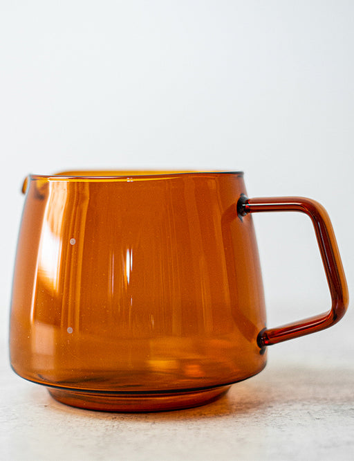 AMBER GLASS JUG