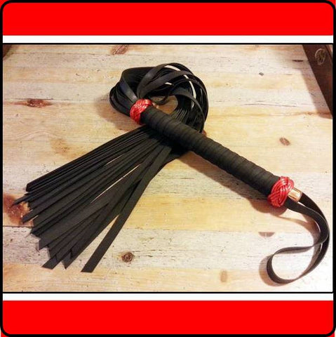 Wrapped Medium Rubber Flogger