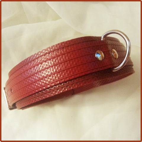 Blood Red Collar Made From Fire-Hose