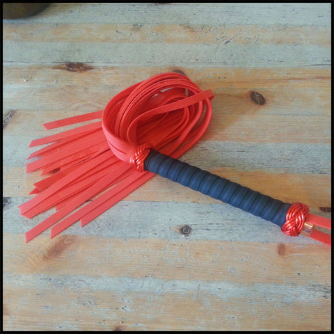 Red Silicone Rubber Flogger