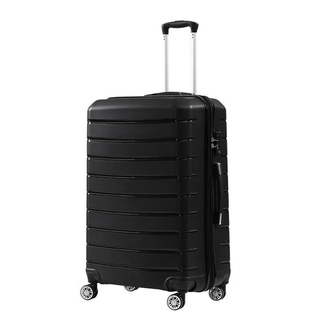 "28"" Travel Luggage Carry On Expandable Suitcase Trolley Lightweight Luggage Black"