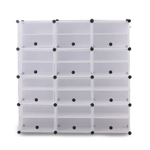 Cube Cabinet Shoe Storage Cabinet Organiser Shelf Stackable DIY 8 Tier 3 Column