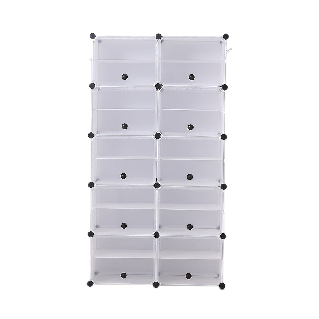 Cube Cabinet DIY Shoe Storage Cabinet Organiser Rack Shelf Stackable 10 Tier