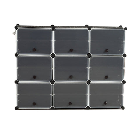 Cube Cabinet Shoe Storage Cabinet Organiser Shelf Stackable DIY 6 Tier 3 Column