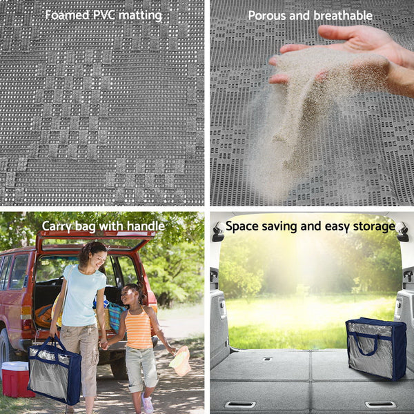 Heavy Duty Caravan Camping Annex Matting Floor Mat 5 x 2.5M Grey