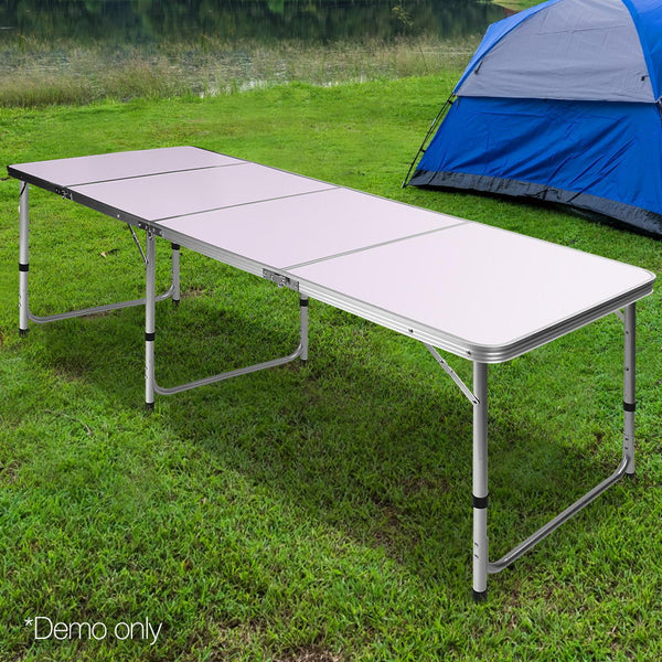 Portable Folding Compact Camping Picnic Table 240cm Long