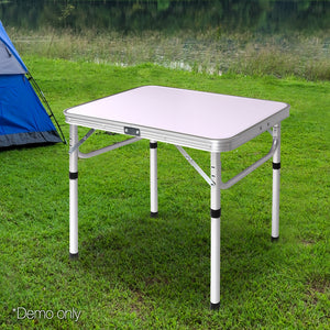 Portable Folding Camping Picnic Table 60x40cm Adjustable Height