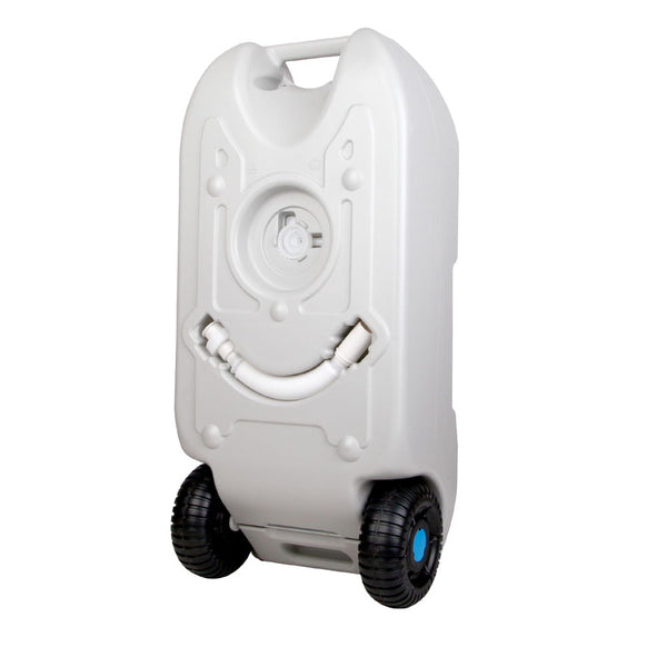 40L Portable Wheel Water Tank Food Grade Polyethylene - Grey