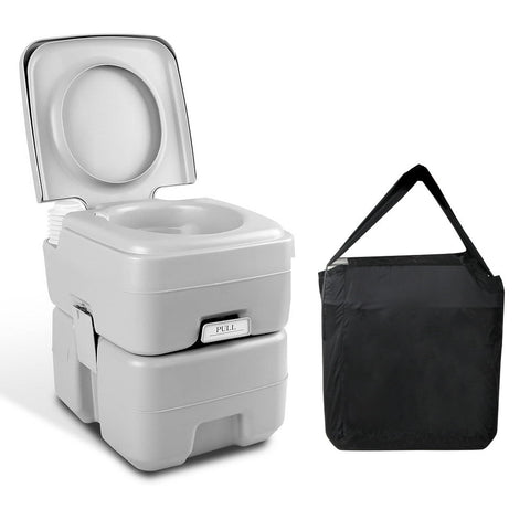 Portable Camping Toilet Grey Weisshorn 20L Tank