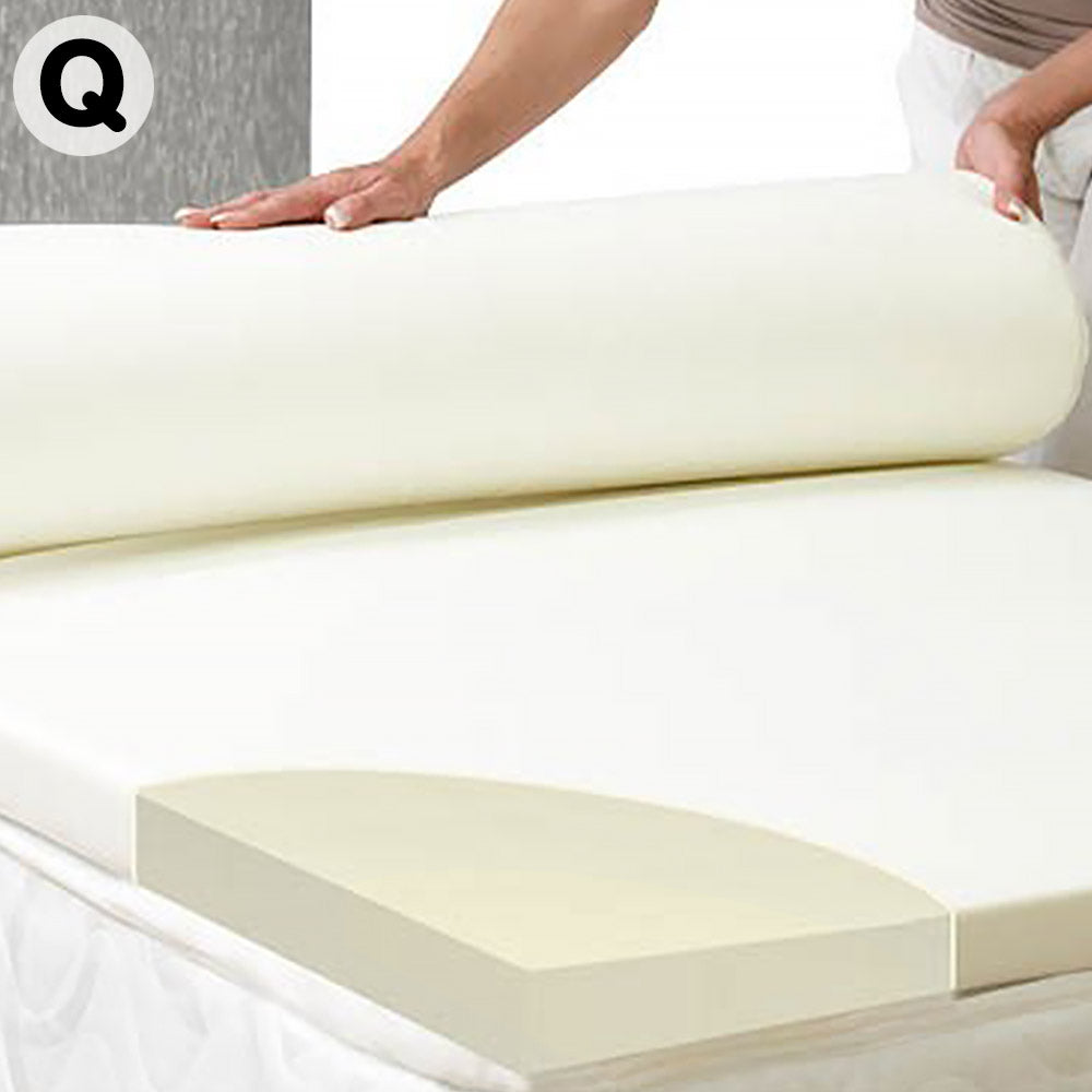Laura Hill High Density Mattress foam Topper 7cm - Queen