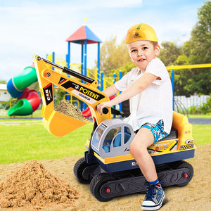Keezi Kids Ride On Excavator - Yellow Children Sand Pit toy