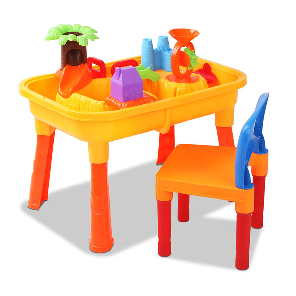 Kid's Outdoor Table & Chair Sandpit Toy Set