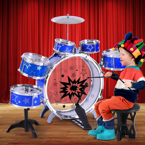 Drum Set Children Junior 11 Piece Drums Kit Musical Play Toys Childrens Mini Big Band