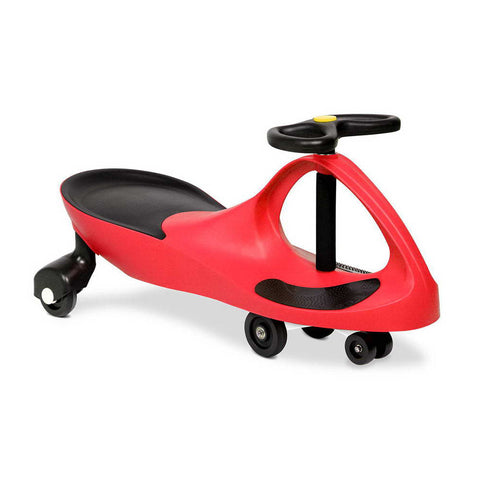 Keezi Kids Ride On Swing Pedal Free Squiggle Car - Red 79cm Heavy Duty