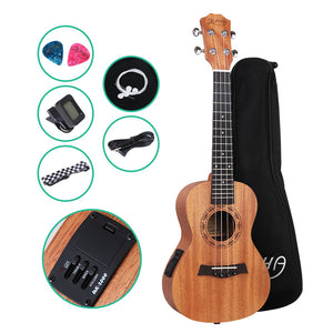 ALPHA 26 Inch Tenor Ukulele Electric Mahogany Ukeleles Uke Hawaii Guitar with EQ
