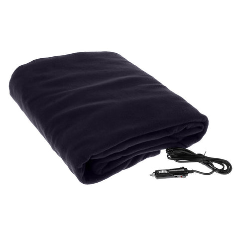 Heated Electric Car Blanket 150x110cm 12V - Blue