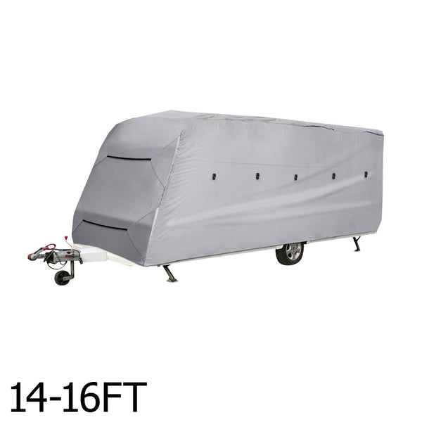 Caravan Cover Campervan 4 Layer Waterproof UV 14-16ft 4 Sides