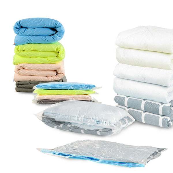 12x Vacuum Seal Storage Bags Space Saver Saving Compressed Organizer Bag X-Large