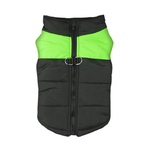 PaWz PaWz Dog Winter Jacket Padded  Pet Clothes Windbreaker Vest Coat  L Green