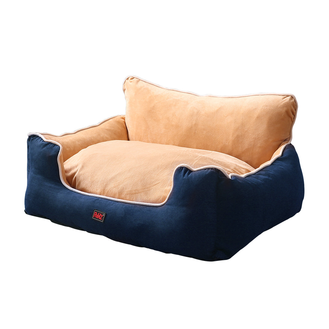 PaWz Pet Bed Dog Puppy Beds Cushion Pad Pads Soft Plush Cat Pillow Mat Blue L