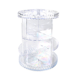 Makeup Organiser Acrylic Rotating Cosmetic Organizer Holder Clear Display Drawer