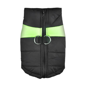 PaWz PaWz Dog Winter Jacket Padded  Pet Clothes Windbreaker Vest Coat  M Green
